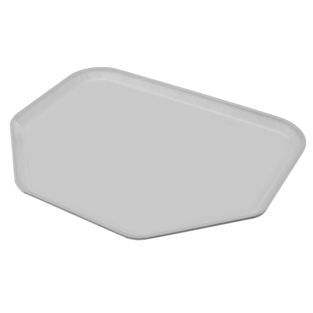 "Carlisle 1713FG002 Trapezoid Cafeteria Tray - 18x14"" Smoke Gray"
