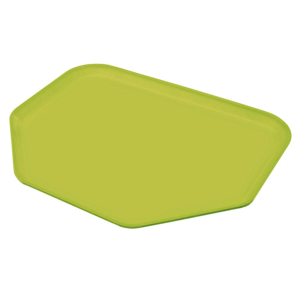 "Carlisle 1713FG008 Trapezoid Cafeteria Tray - 18x14"" Avocado"