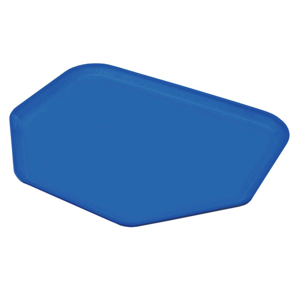 """Carlisle 1713FG015 Trapezoid Cafeteria Tray - 18x14"""" Navy"""