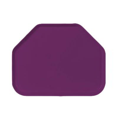 """Carlisle 1713FG054 Trapezoid Cafeteria Tray - 18x14"""" Mulberry"""