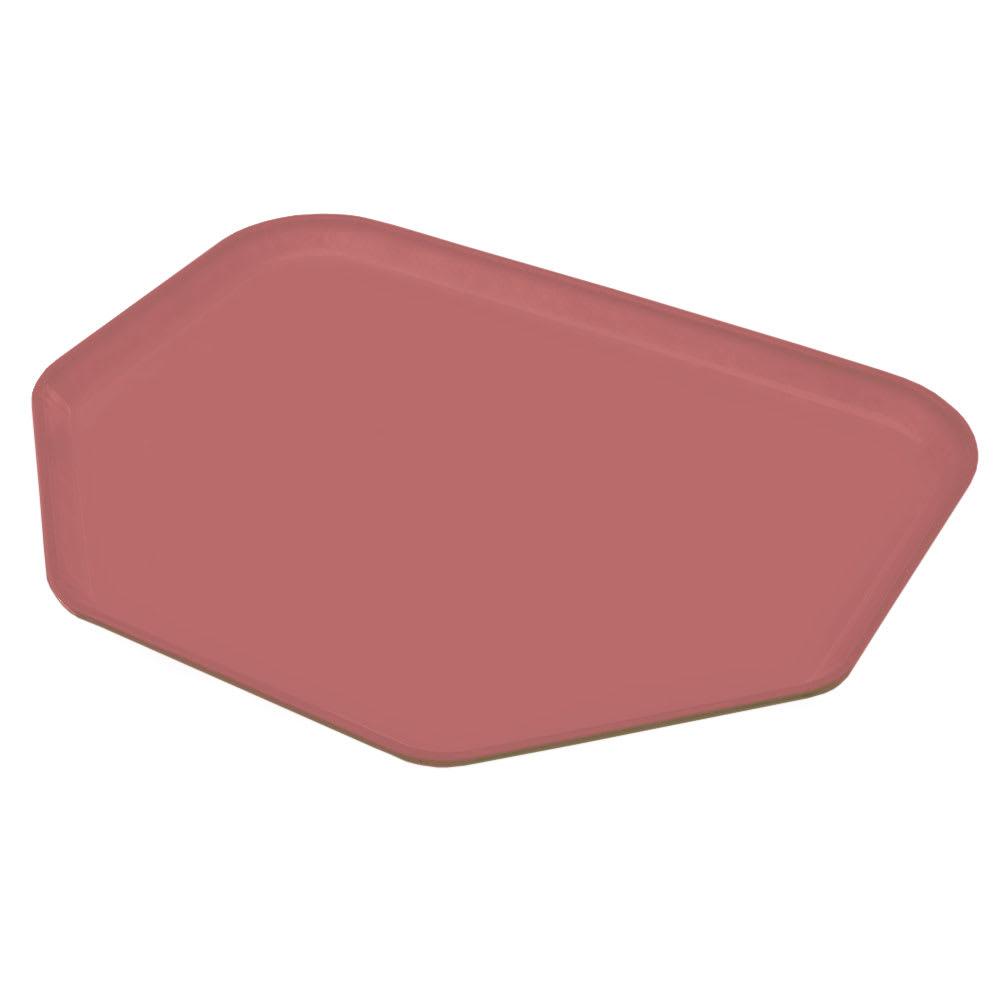 """Carlisle 1713FG069 Trapezoid Cafeteria Tray - 18x14"""" Raspberry"""