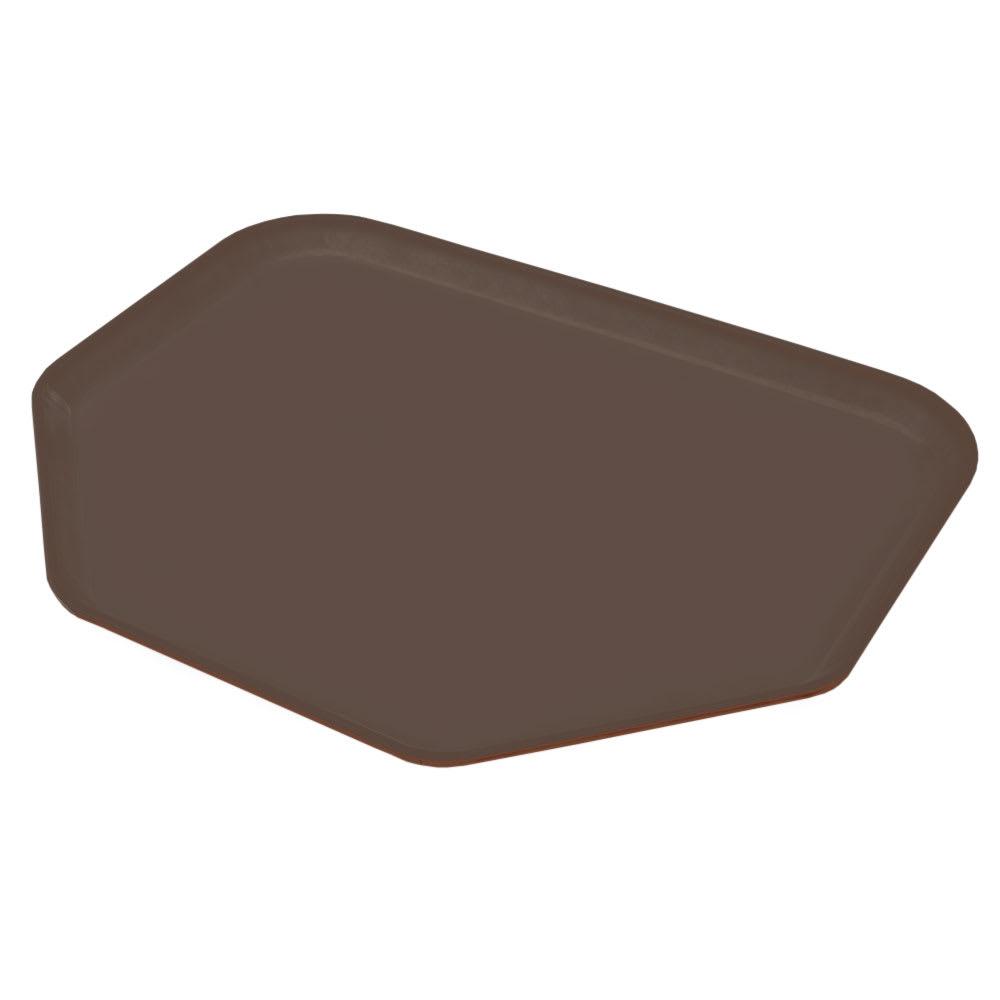 "Carlisle 1713FG127 Trapezoid Cafeteria Tray - 18x14"" Chocolate"