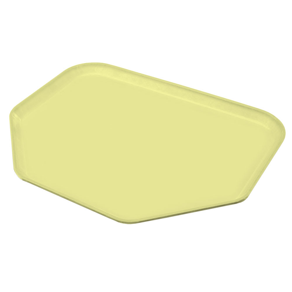 """Carlisle 1713FG97037 Trapezoid Cafeteria Tray - 18x14"""" Primrose Yellow"""