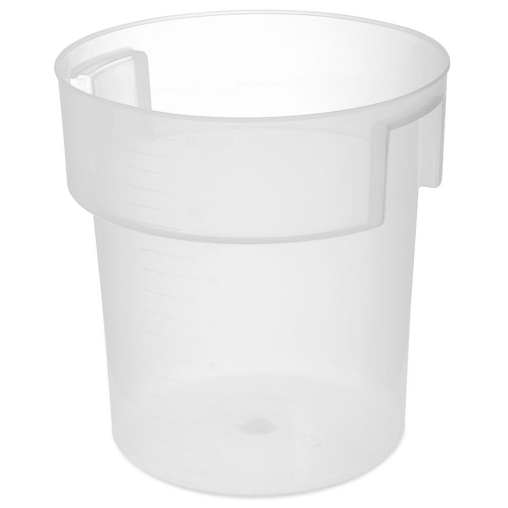 Carlisle 180530 18 qt Round Bain Marie Container - Translucent