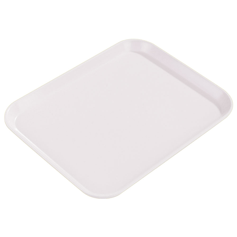 "Carlisle 1814FG001 Rectangular Cafeteria Tray - 18x14"" Bone White"