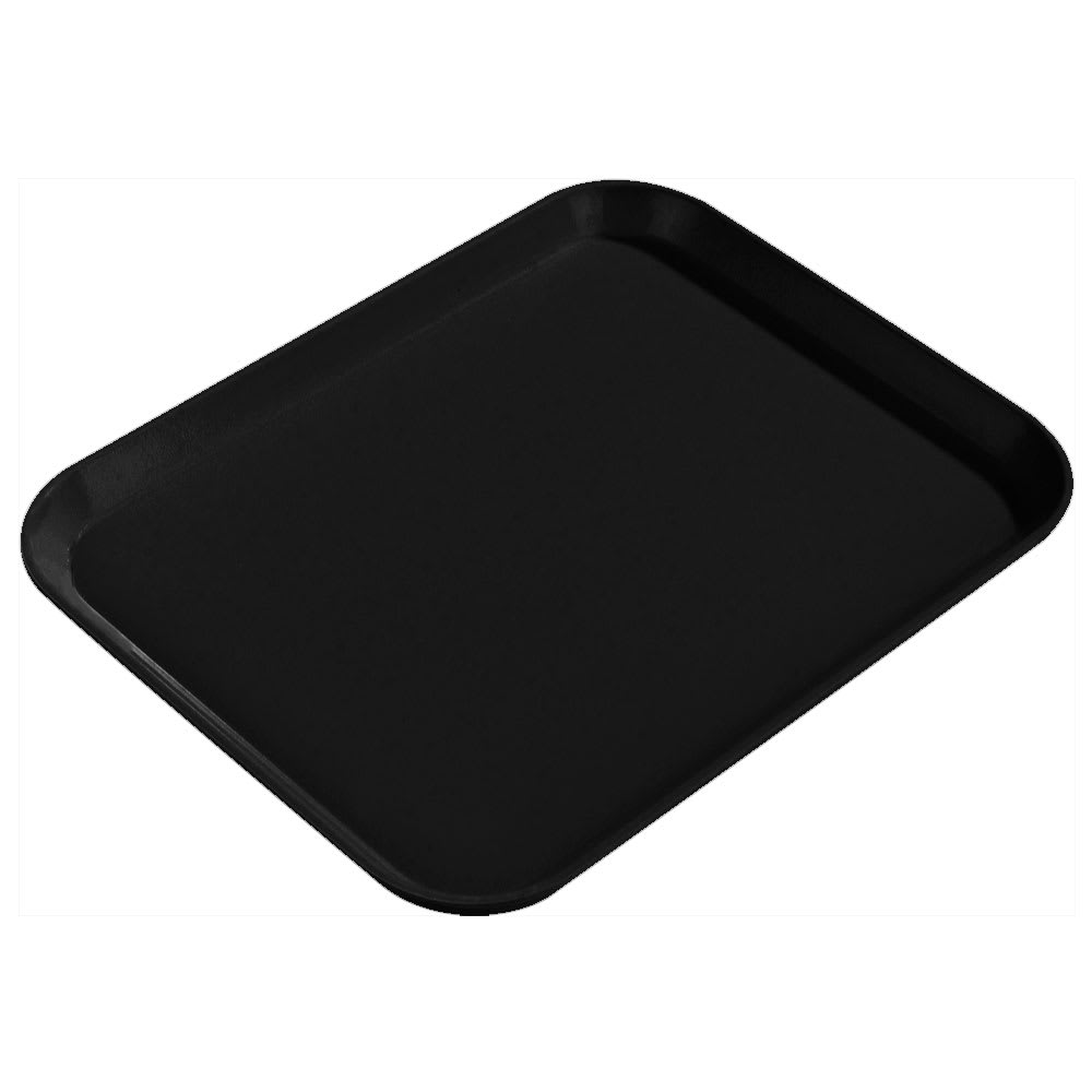 "Carlisle 1814FG004 Rectangular Cafeteria Tray - 18x14"" Black"