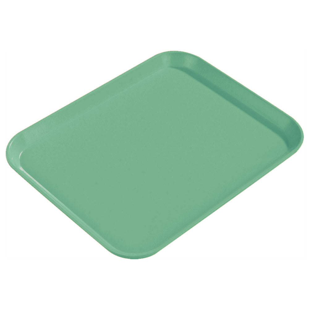 "Carlisle 1814FG007 Rectangular Cafeteria Tray - 18x14"" Tropical Green"
