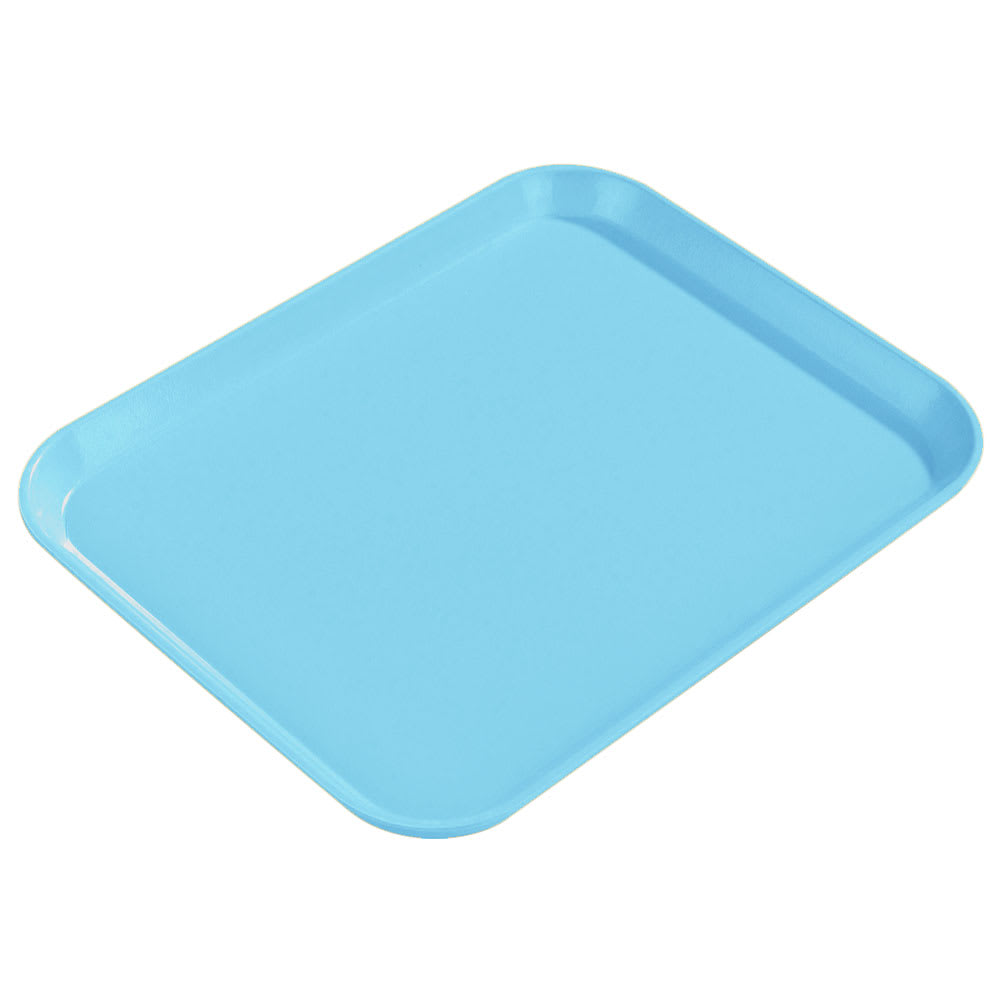 "Carlisle 1814FG011 Fiberglass Cafeteria Tray - 18""L x 14""W, Turquoise"