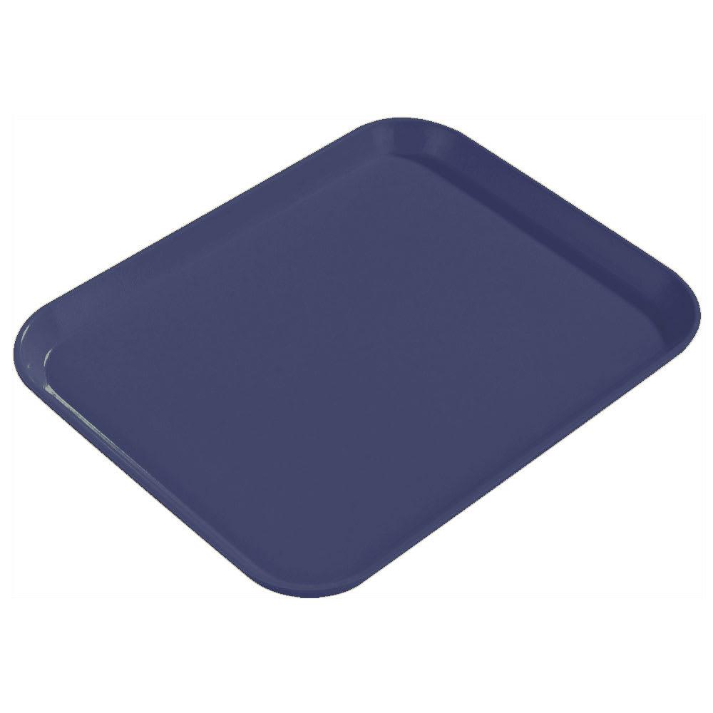 """Carlisle 1814FG014 Rectangular Cafeteria Tray - 18x14"""" Cobalt Blue"""