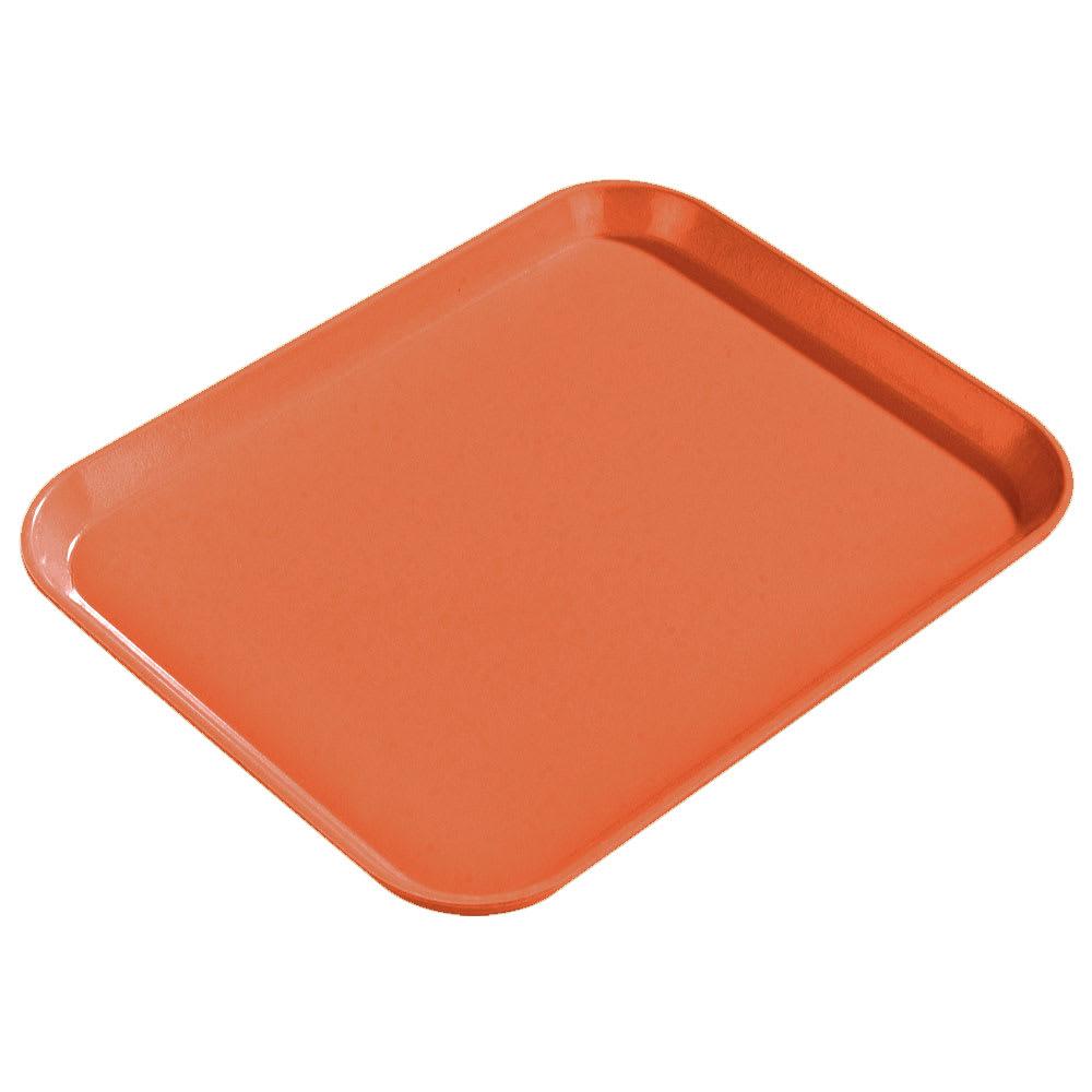 "Carlisle 1814FG018 Fiberglass Cafeteria Tray - 18""L x 14""W, Orange"