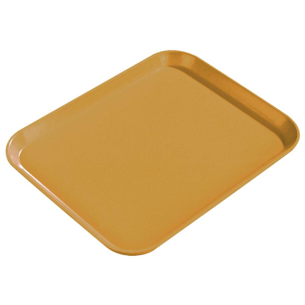 "Carlisle 1814FG023 Rectangular Cafeteria Tray - 18x14"" Gold"