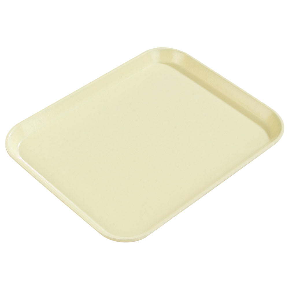 "Carlisle 1814FG024 Rectangular Cafeteria Tray - 18x14"" Lemon"