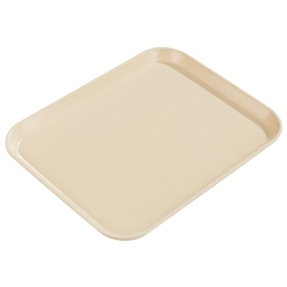 "Carlisle 1814FG025 Fiberglass Cafeteria Tray - 18""L x 14""W, Beige"