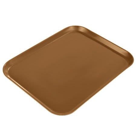 "Carlisle 1814FG97005 Fiberglass Cafeteria Tray - 18""L x 14""W, Bay Leaf Brown"