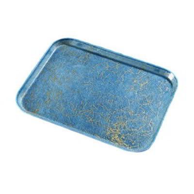 Carlisle 1826DFG029 Rectangular Cafeteria Tray - 26x18cm, Starfire Blue
