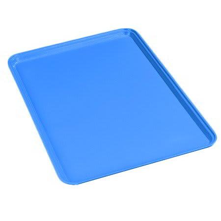 Carlisle 1826FG013 Rectangular Cafeteria Tray - 26x18cm, Ice Blue