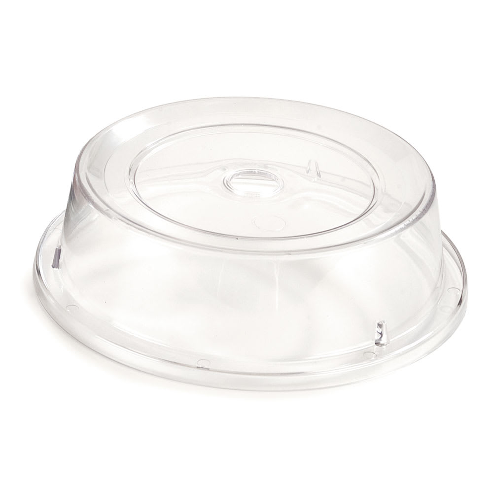 "Carlisle 198907 10-3/16"" to 10-1/4"" Plate Cover - Polycarbonate, Clear"