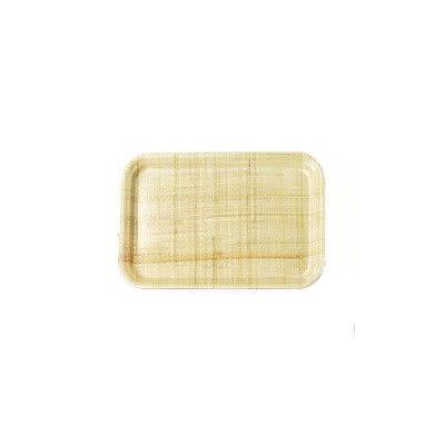 "Carlisle 2015FG003 Rectangular Cafeteria Tray - 20 1/4x15"" Natural"
