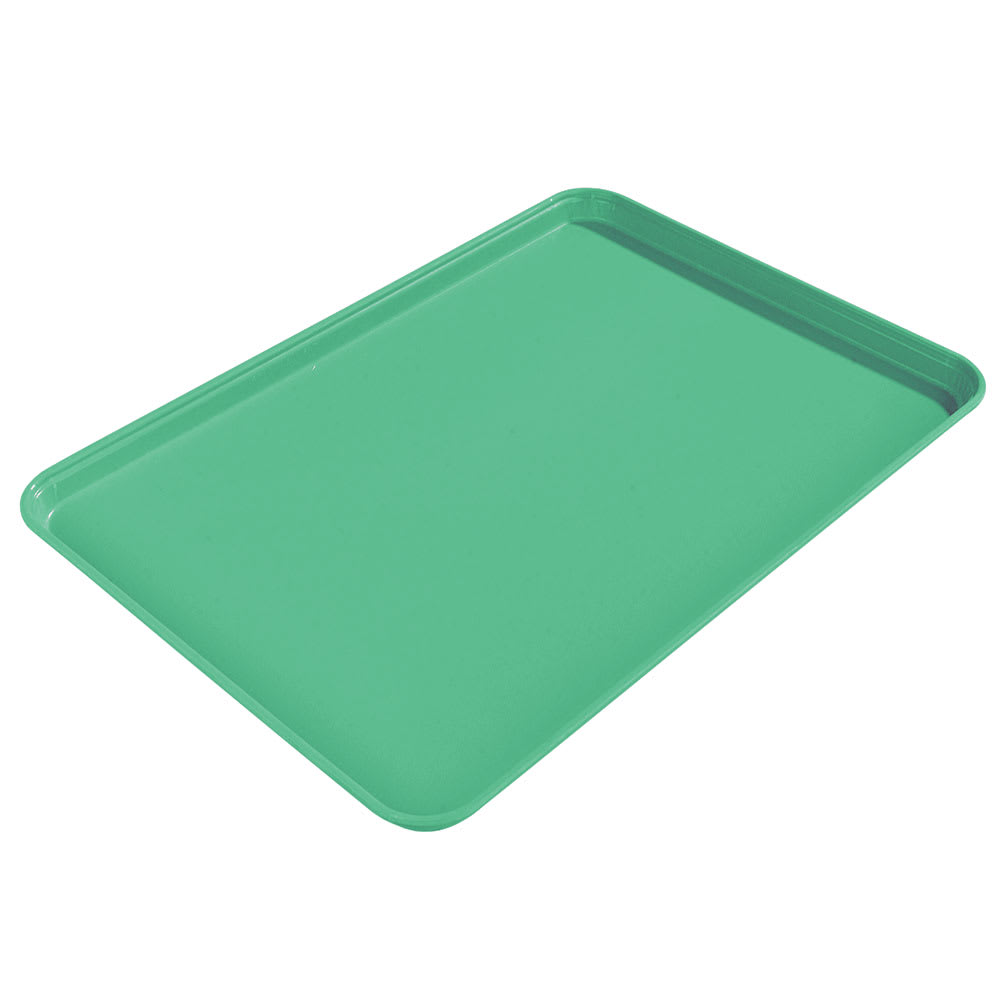 "Carlisle 2015FG007 Rectangular Cafeteria Tray - 20-1/4x15"" Tropical Green"