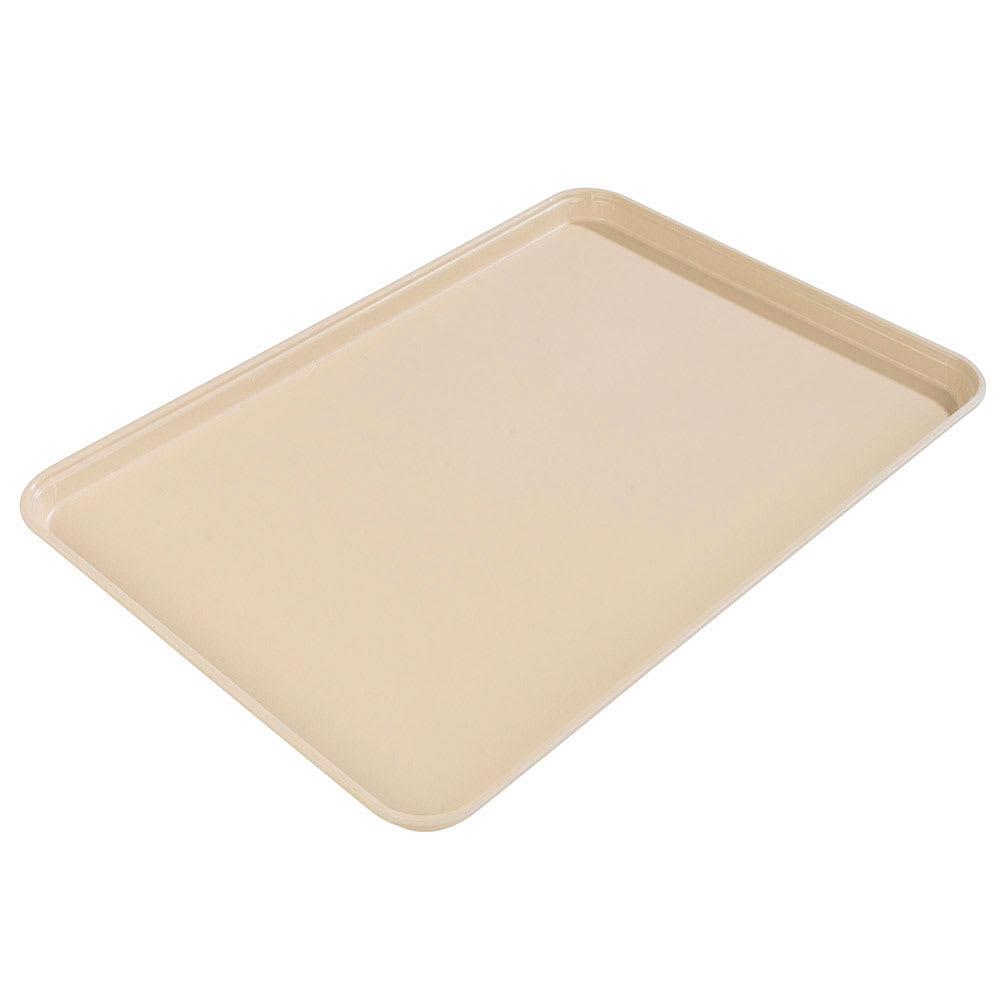 "Carlisle 2015FG025 Rectangular Cafeteria Tray - 20-1/4x15"" Beige"