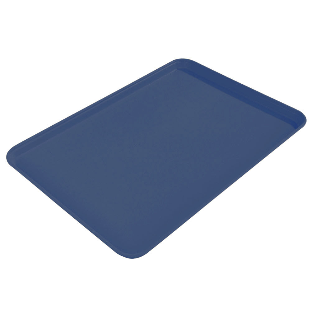 "Carlisle 2015FG050 Fiberglass Cafeteria Tray - 20.25""L x 15""W, Sapphire Blue"