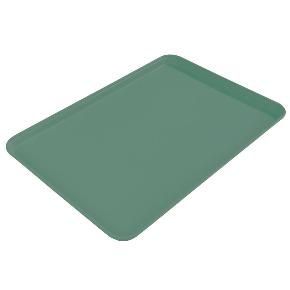 "Carlisle 2015FG053 Rectangular Cafeteria Tray - 20-1/4x15"" Jade"