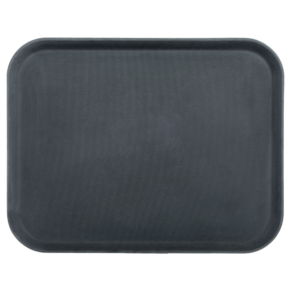 "Carlisle 2015GR004 Rectangular Serving Tray - 20-1/4x15"" Black"
