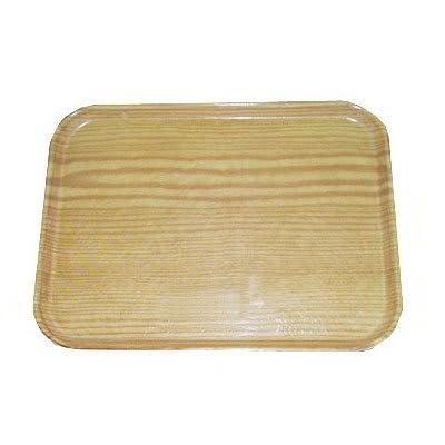 "Carlisle 2015WFG065 Rectangular Cafeteria Tray - 20-1/4x15"" Light Oak Woodgrain"