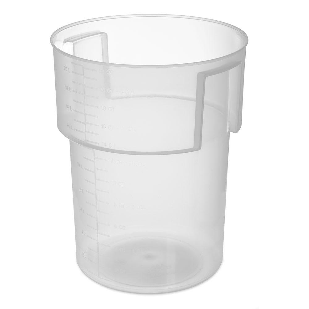 Carlisle 220530 22 qt Round Bain Marie Container - Translucent