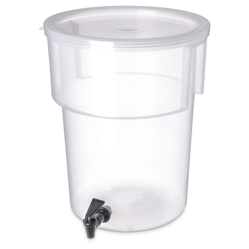Carlisle 220930 5 gal Round Beverage Dispenser - Polypropylene, Clear
