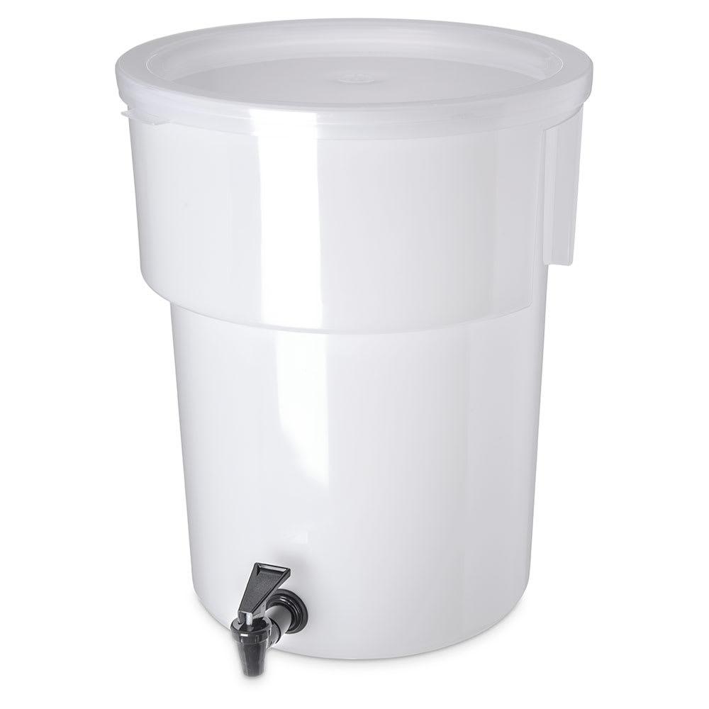 Carlisle 221002 5-gal Round Beverage Dispenser - Polypropylene, White