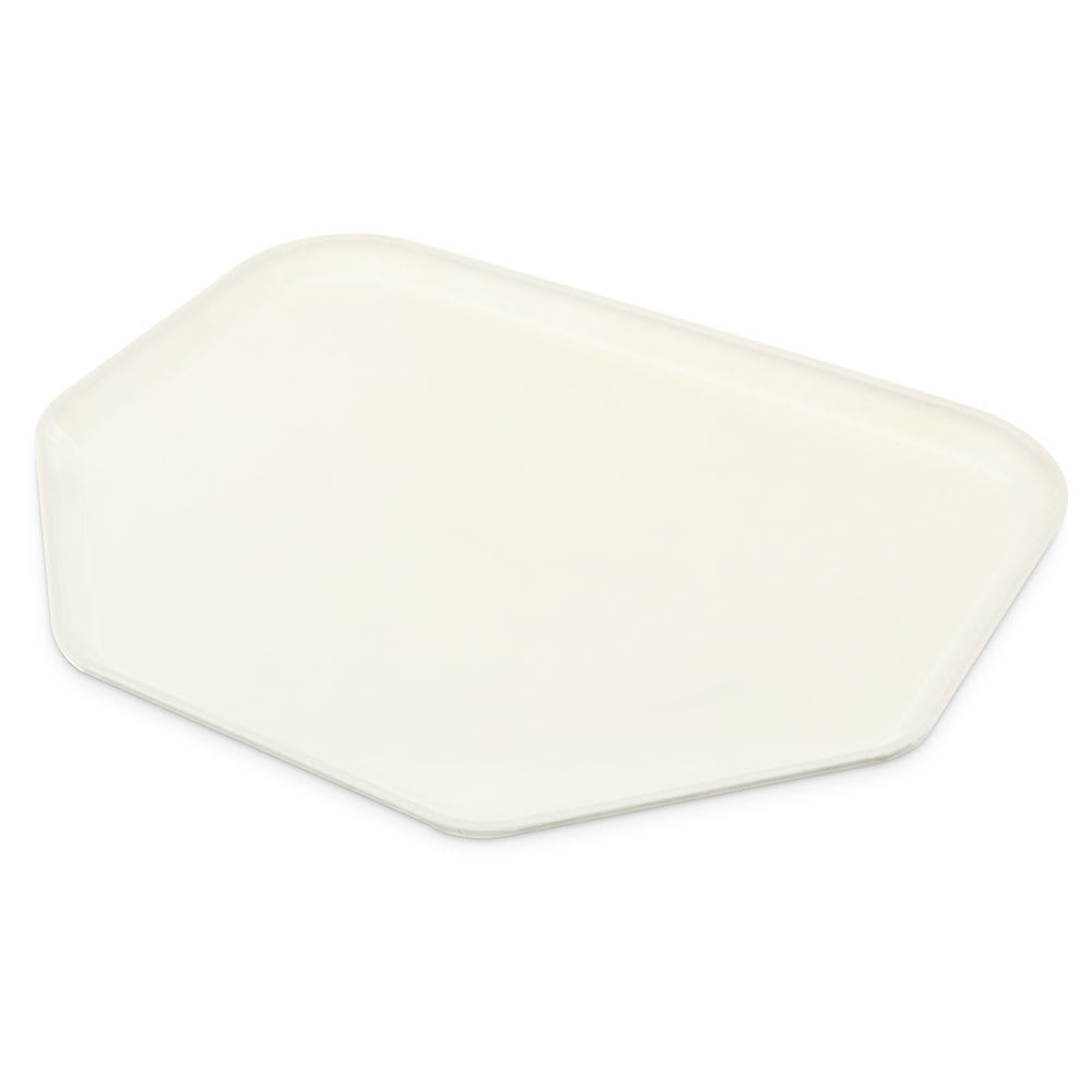 """Carlisle 2214FG001 Trapezoid Cafeteria Tray - 22x14"""" Bone White"""