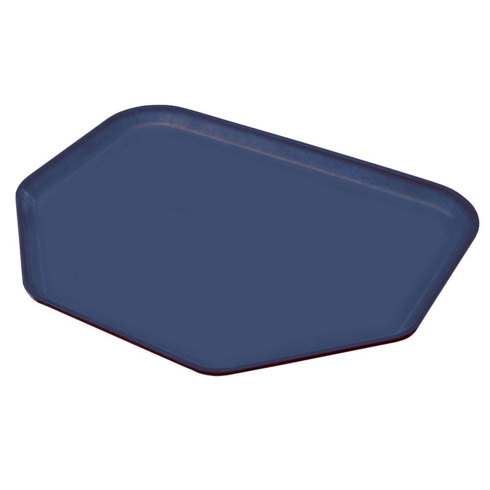 """Carlisle 2214FG005 Trapezoid Cafeteria Tray - 22x14"""" Pewter"""