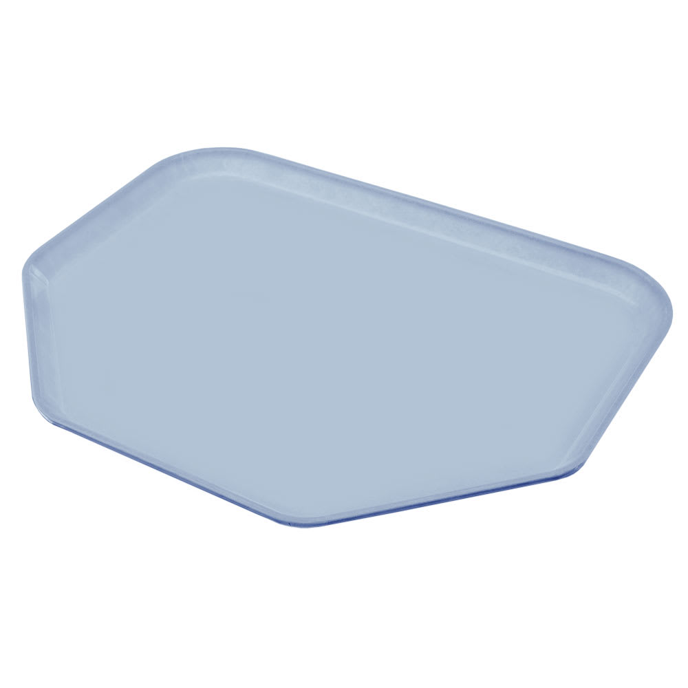 "Carlisle 2214FG012 Trapezoid Cafeteria Tray - 22x14"" Sea Spray"