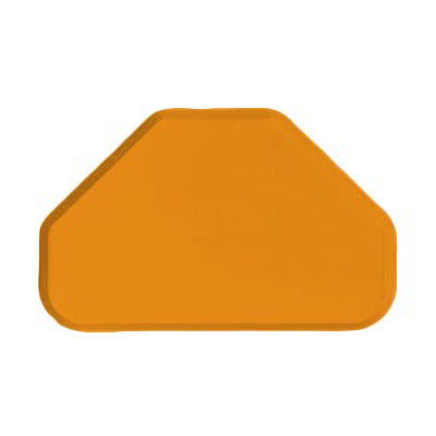 "Carlisle 2214FG019 Trapezoid Cafeteria Tray - 22x14"" Rust"