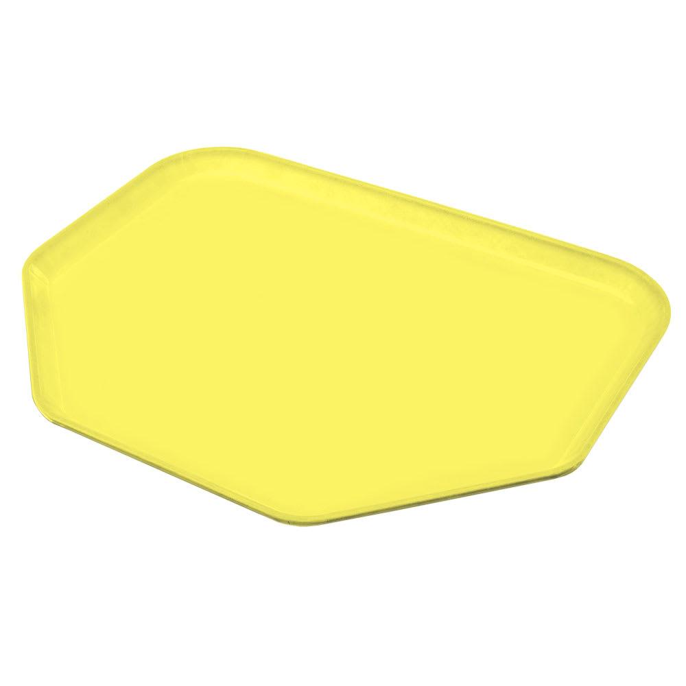 "Carlisle 2214FG021 Trapezoid Cafeteria Tray - 22x14"" Pineapple"