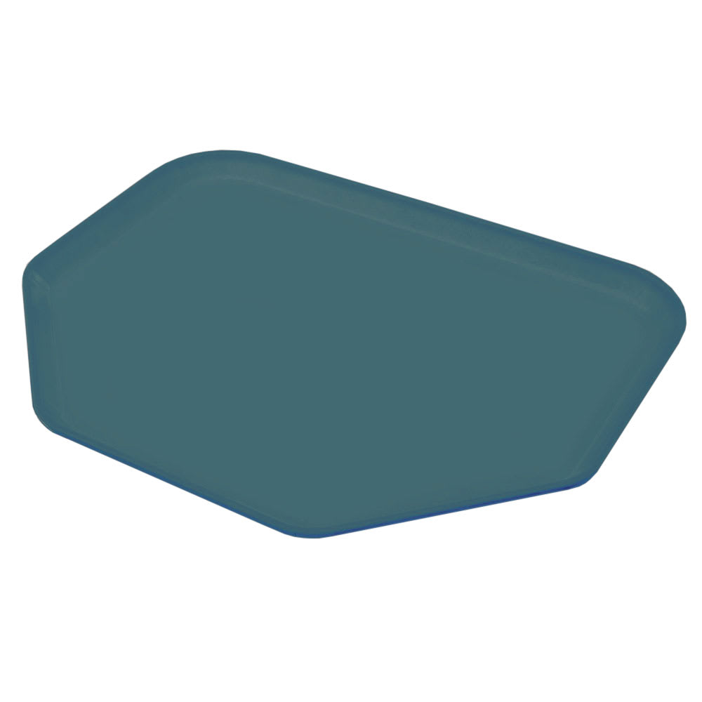 "Carlisle 2214FG051 Trapezoid Cafeteria Tray - 22x14"" Teal"