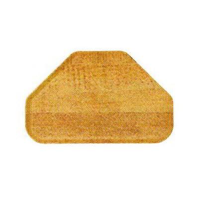 "Carlisle 2214WFG065 Trapezoid Cafeteria Tray - 22x14"" Light Oak Woodgrain"