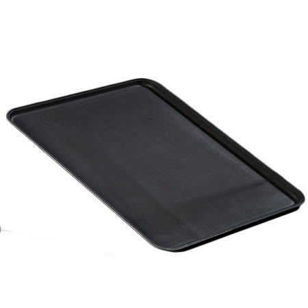 "Carlisle 2216GR004 Rectangular Serving Tray - 22x16"" Black"