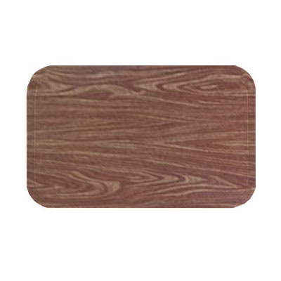 "Carlisle 2216WFGQ063 Rectangular Cafeteria Tray - 22-1/8x16"" Pecan Woodgrain"