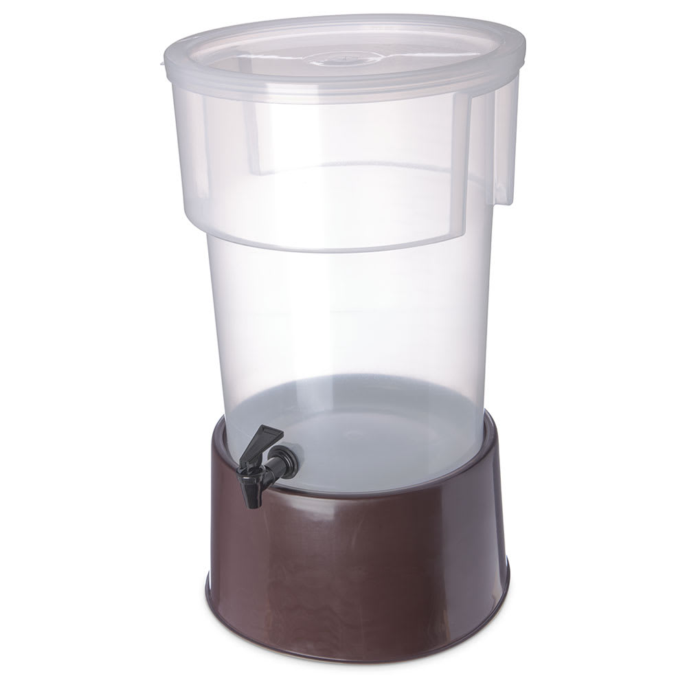 Carlisle 222901 5 gal Round Beverage Server - Polypropylene, Translucent/Brown