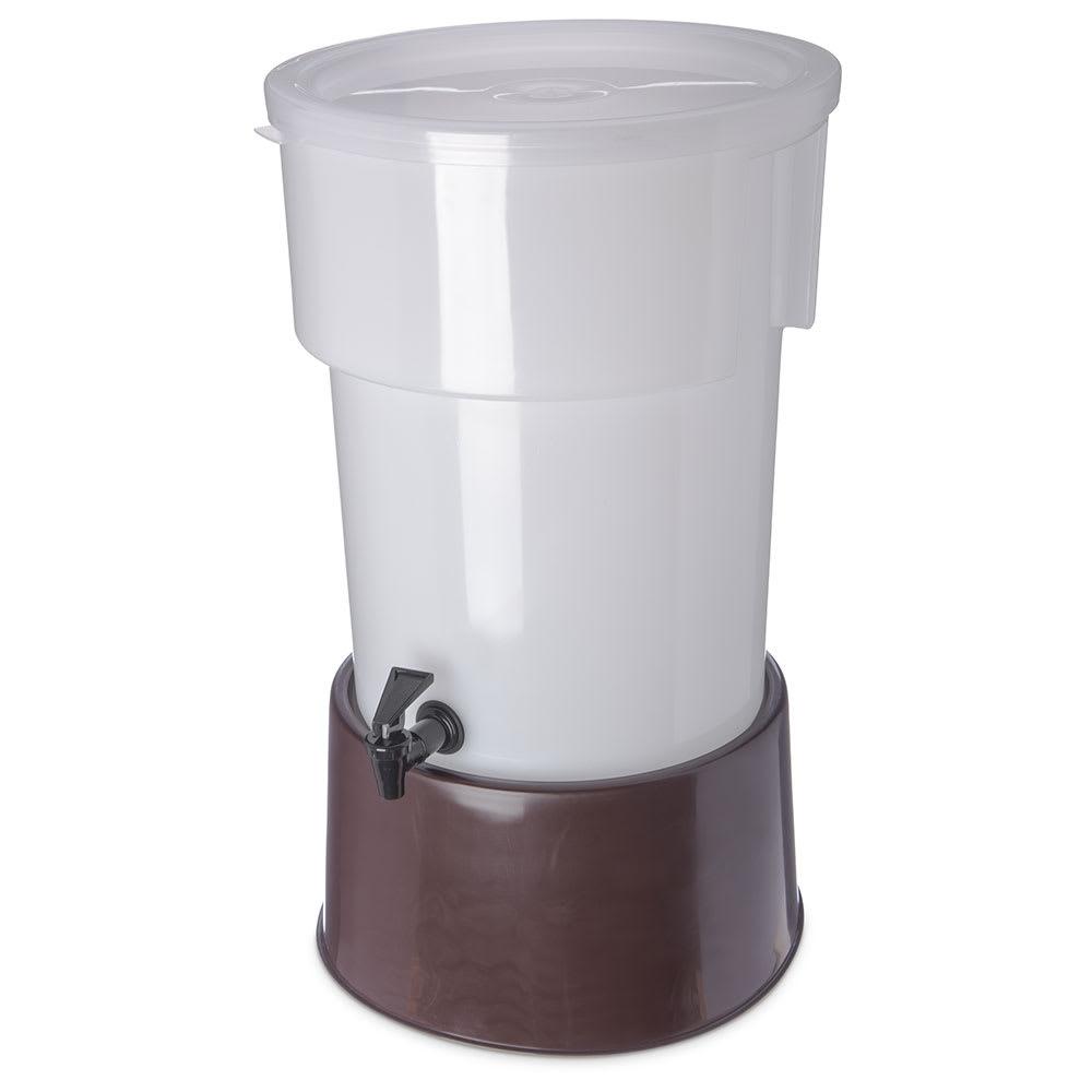 Carlisle 223001 5 gal Round Beverage Server - Polypropylene, White/Brown