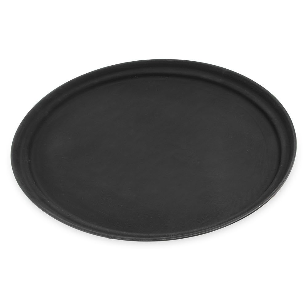 "Carlisle 2500GR2004 Oval Serving Tray - 24x19-1/4"" Black"