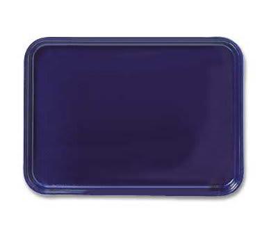 "Carlisle 2618FG004 Rectangular Display/Bakery Tray - 25-5/8x17-7/8x1-1/4"" Black"