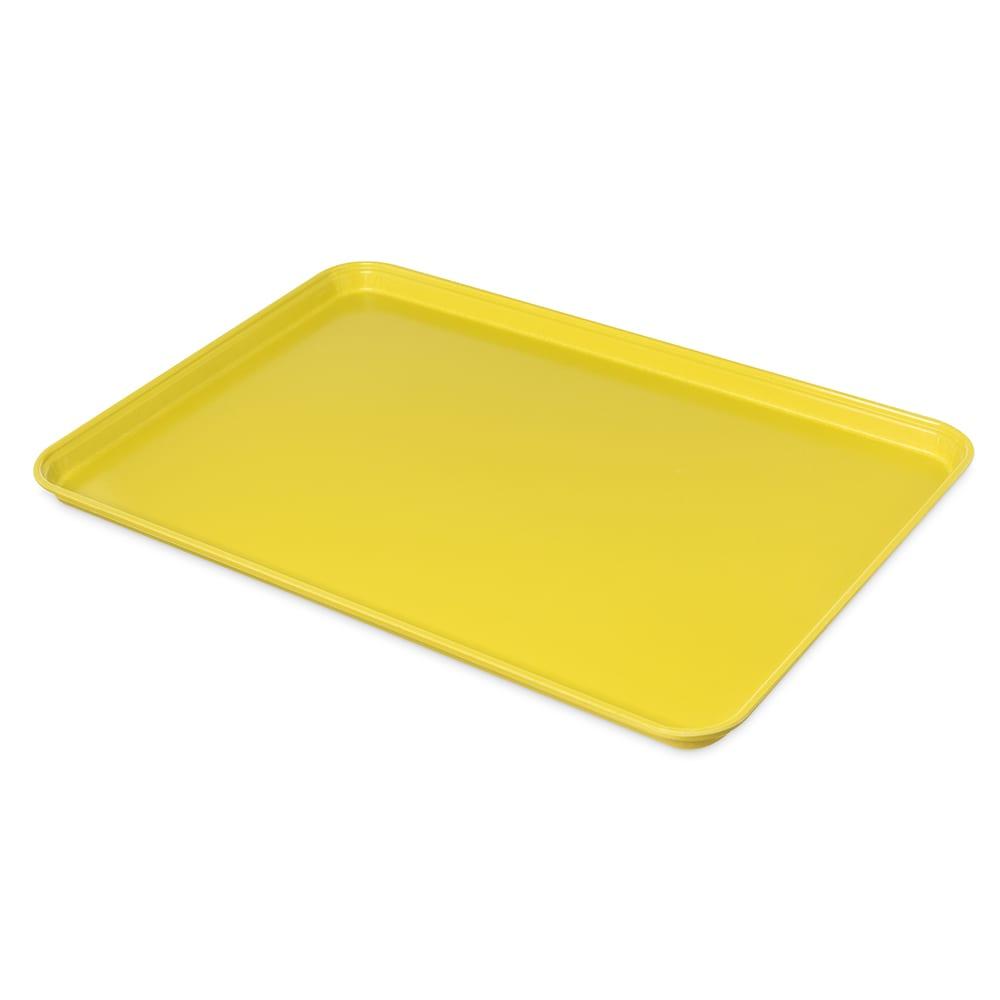 "Carlisle 2618FMTQ302 Rectangular Market Tray - 25-5/8x17-7/8"" Citrus Yellow"
