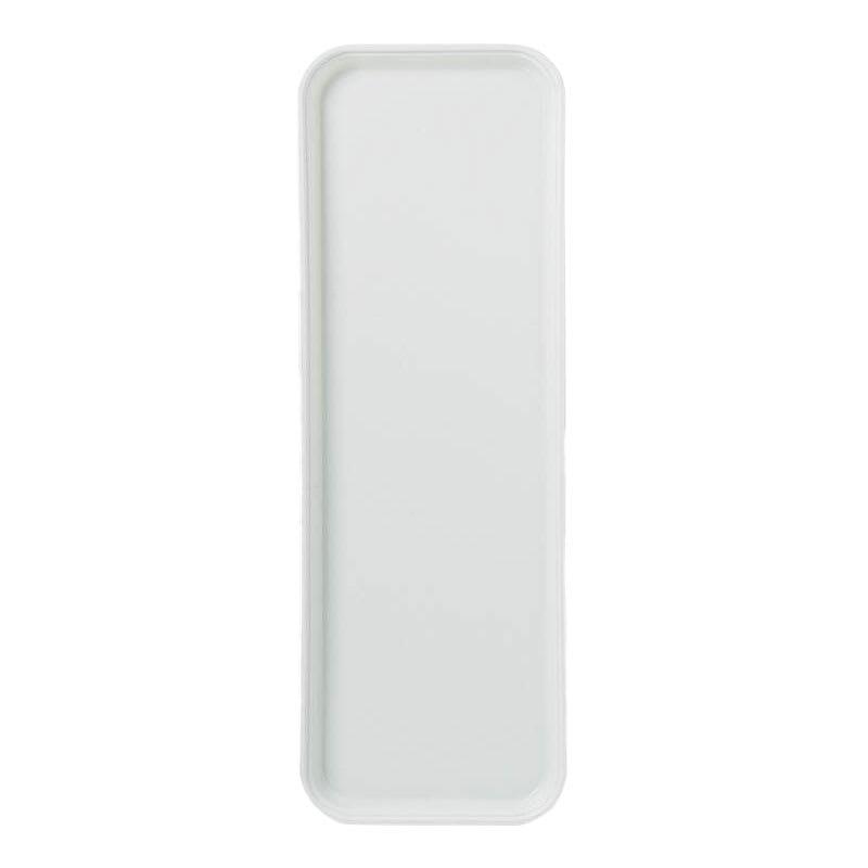 "Carlisle 269FG001 Rectangular Display/Bakery Tray - 8-3/4 x 25-1/2"", Bone White"