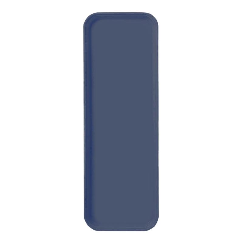 """Carlisle 269FG005 Rectangular Display/Bakery Tray - 8-3/4 x 25-1/2"""", Pewter"""