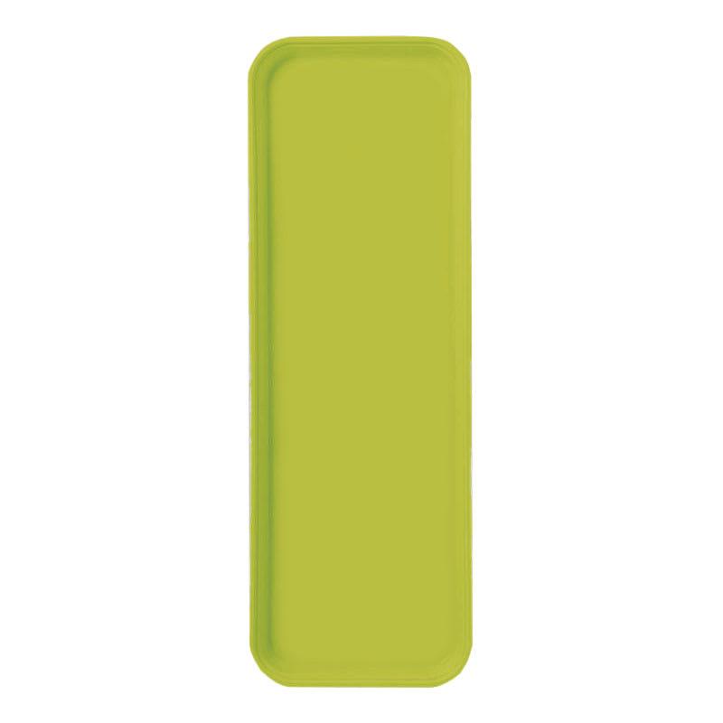 "Carlisle 269FG008 Rectangular Display/Bakery Tray - 8-3/4 x 25-1/2"", Avocado"