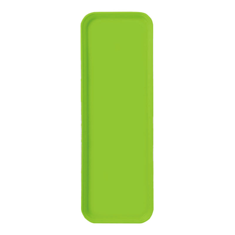 "Carlisle 269FG009 Rectangular Display/Bakery Tray - 8-3/4 x 25-1/2"", Lime"