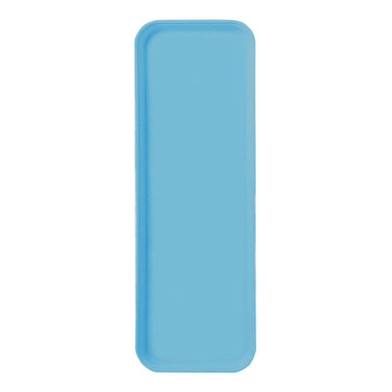 """Carlisle 269FG011 Rectangular Display/Bakery Tray - 8-3/4 x 25-1/2"""", Turquoise"""